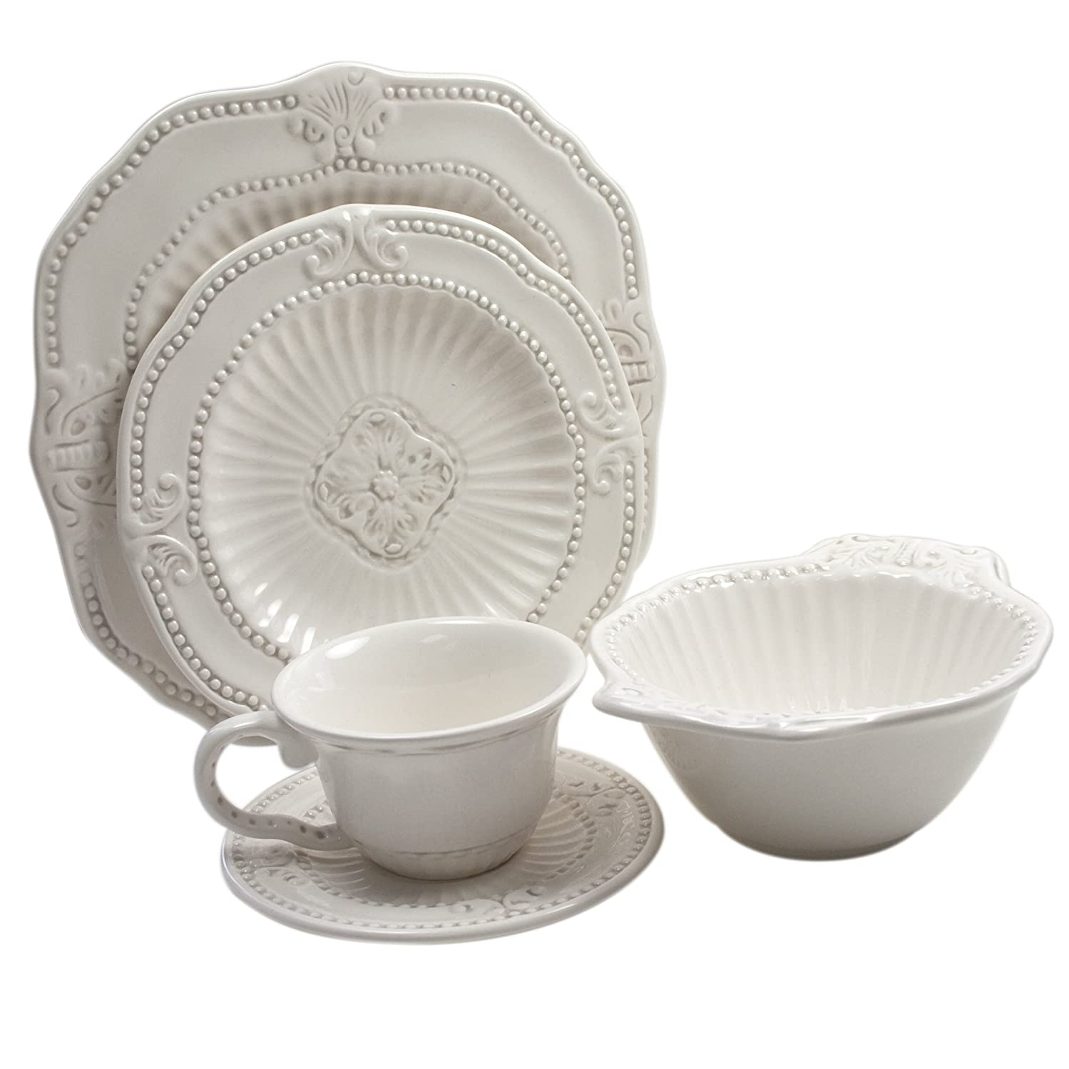 Amazon.com | American Atelier 5286-20-GB 20-Piece Baroque Dinnerware Set Dinnerware Sets  sc 1 st  Amazon.com : overstock dinnerware sets - Pezcame.Com