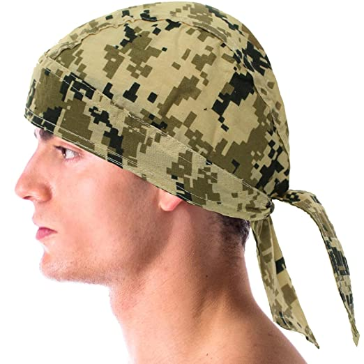 eeeeed9048d Image Unavailable. Image not available for. Color  Digital Army Camouflage Bandana  Headwrap Headscarf Durag Do rag Biker Cap Hat