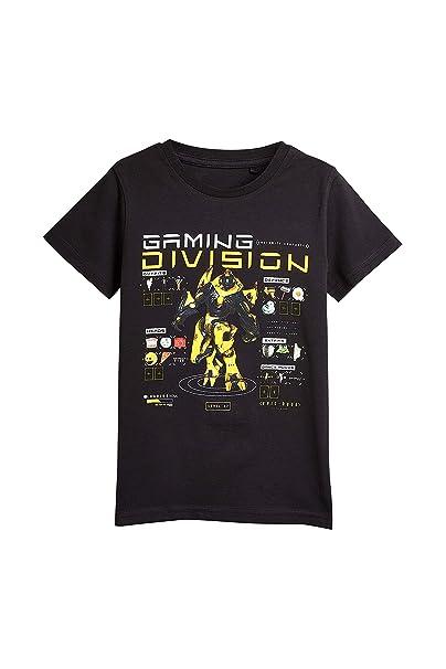 8430c7216528 next Bambini E Ragazzi T-Shirt con Stampa Grafica Gaming Nero 3 Anni   Amazon.it  Abbigliamento