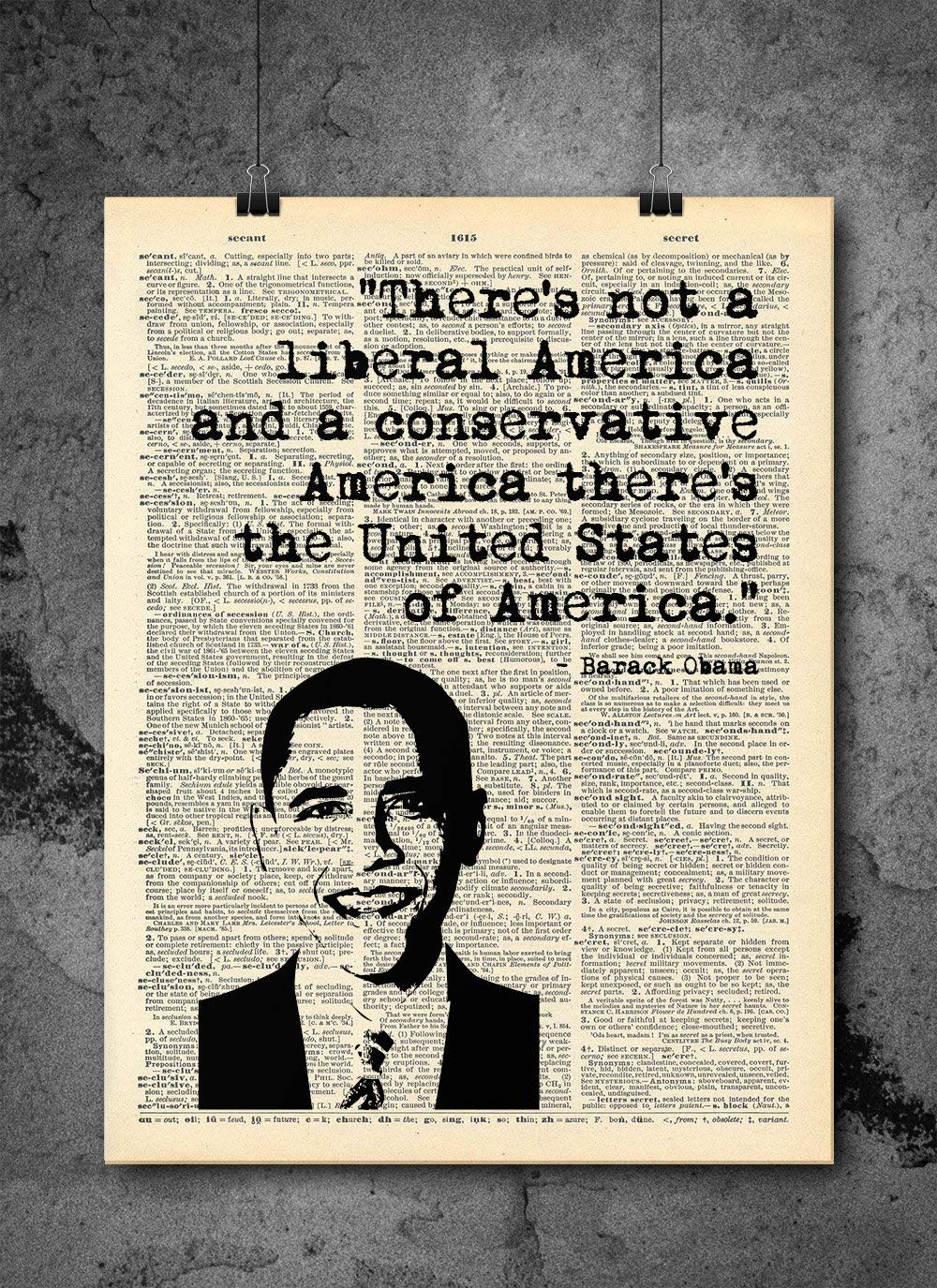 Barack Obama - United States Quote - Dictionary Art Print - Vintage Dictionary Print 8x10 inch Home Vintage Art Wall Art for Home Wall For Living Room Bedroom Office Ready-to-Frame