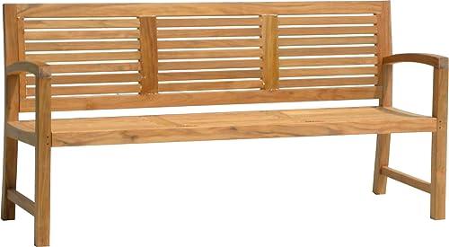 AquaTeak 6' Aqua Horizon Solid Teak Outdoor Bench