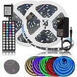 BIHRTC LED Strip Lights 32.8ft RGB LED Light Strip SMD 5050 LED Tape Lights Color Changing LED Strip Lights with Remote…