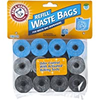 Arm & Hammer 71040 Disposable Waste Bag Refills, Assorted, 180 2 Pack