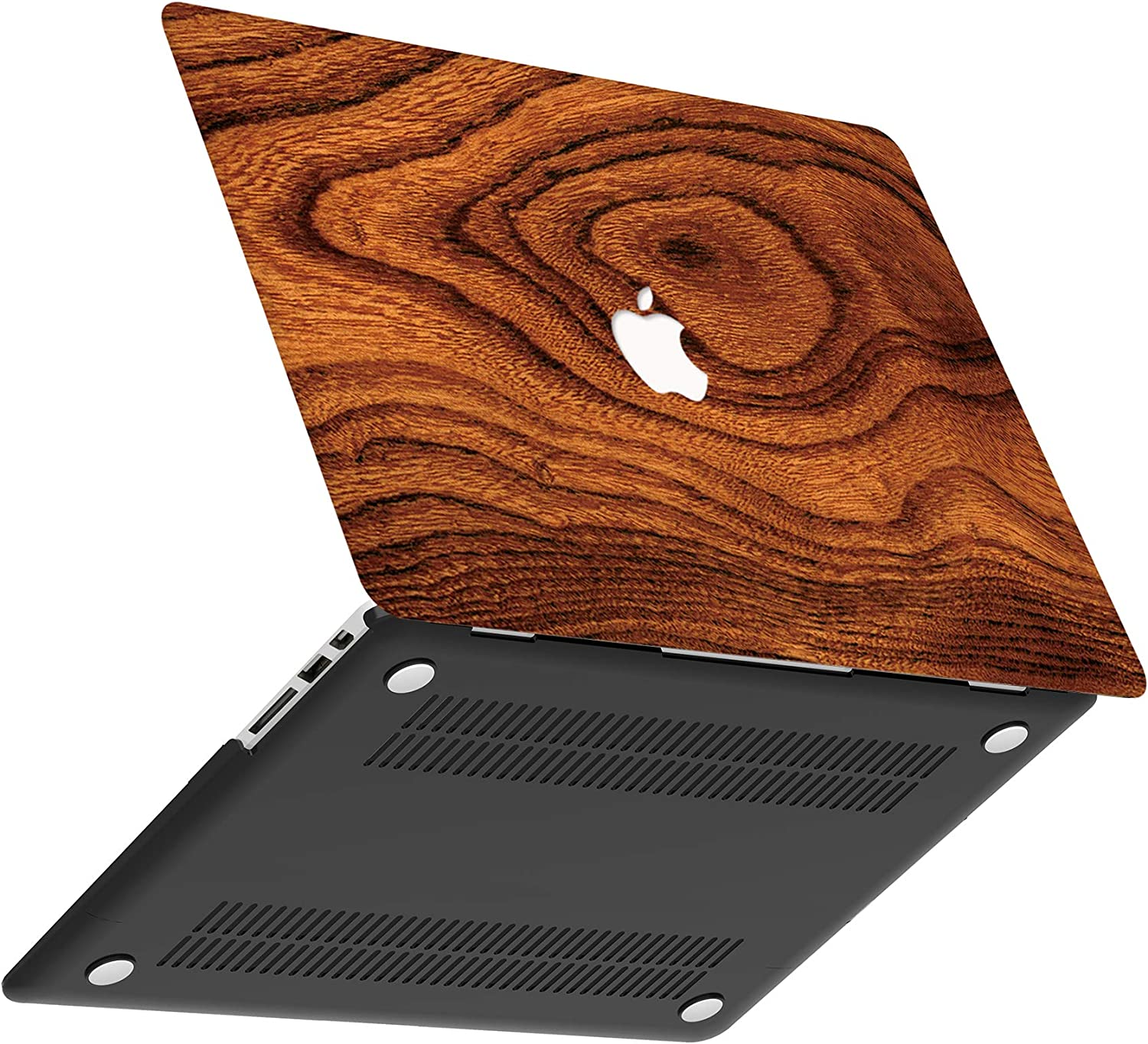 AOGGY MacBook Air 13 Inch Case 2018 Release A1932 Wood Grain 2 ,{Wood Grain Series}Ultra-Thin Smooth Rubber Coating Scratch-Resistant Protective Hard Case with Retina Display and Touch ID