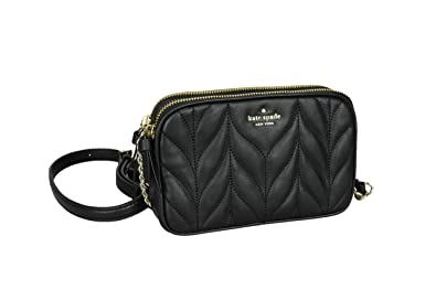 Kate Spade New York Briar Lane Quilted Kendall Womens Leather Crossbody Bag  (BLACK) 669cfb78c6bb2