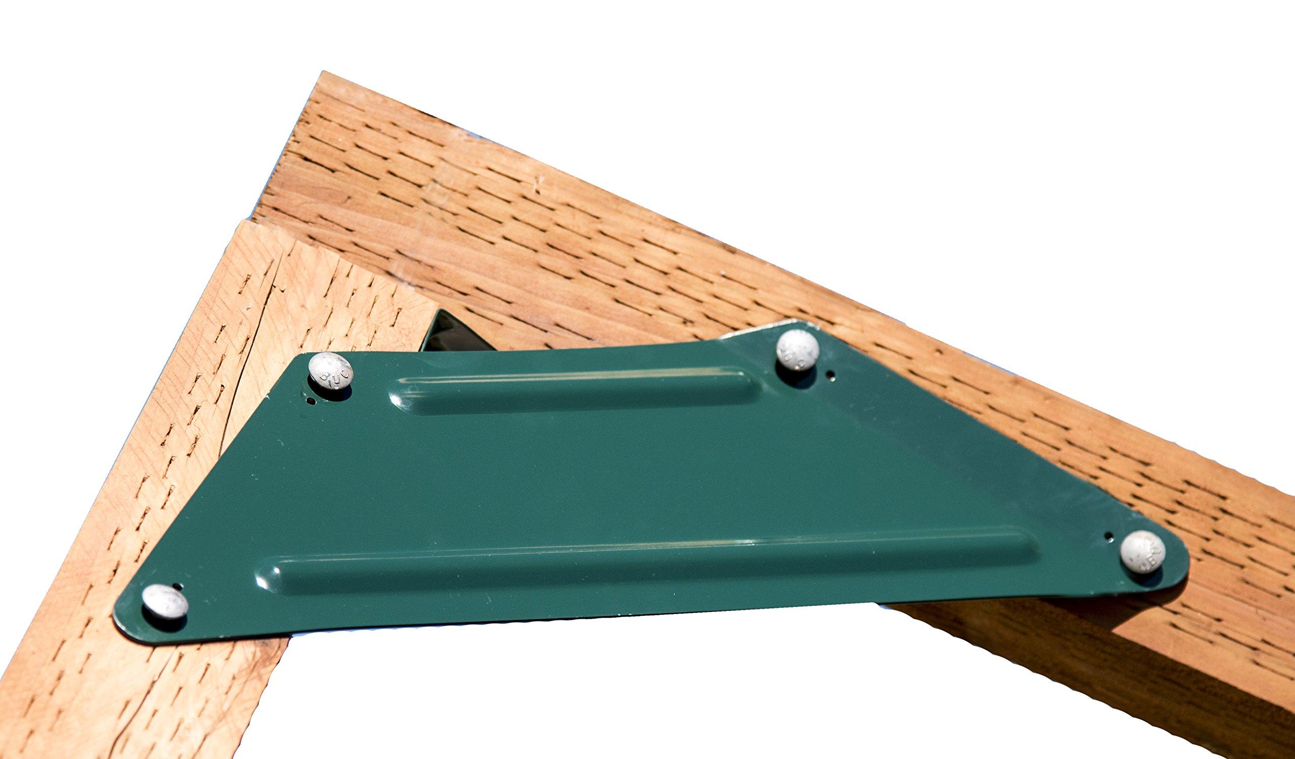 DIY Swing Set Brackets - Right/Left Braces Set of 2 - Do It Yourself Swing Set Hardware