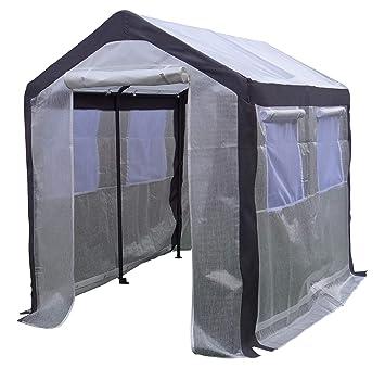 Invernadero de aluminio Invernadero Caseta de jardín Vivero de vegetación| SORARA | 2 x 2