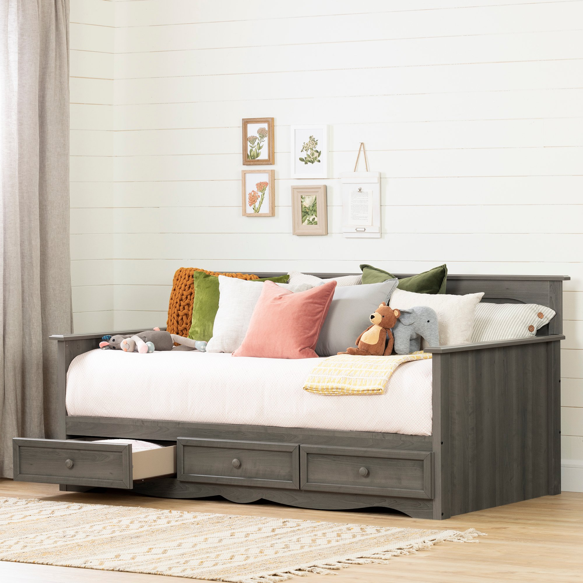South Shore 11687 Savannah Daybed with Storage, Gray