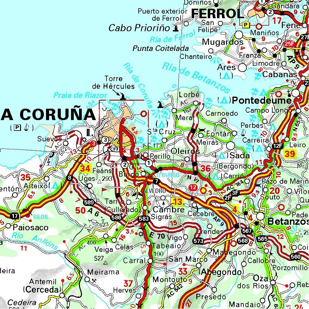 Carte Espagne Pays Basque Detaillee.Amazon Fr Carte Espagne Galice Michelin Collectif