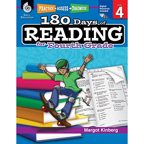 Amazon.com: 180 Days of Reading for Fourth Grade (Ages 8 - 10) Easy ...