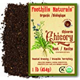 Foothills Naturals Chicory Root Roasted Granules Organic – 1 Pound (454g), Natural Coffee Substitute, Caffeine-Free