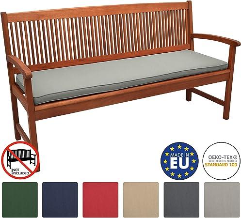 Beautissu Loft BK Cojines para Bancos de jardín colchoneta Asiento Bancos 180x48x5 Gris Claro Acolchados Elegantes: Amazon.es: Hogar