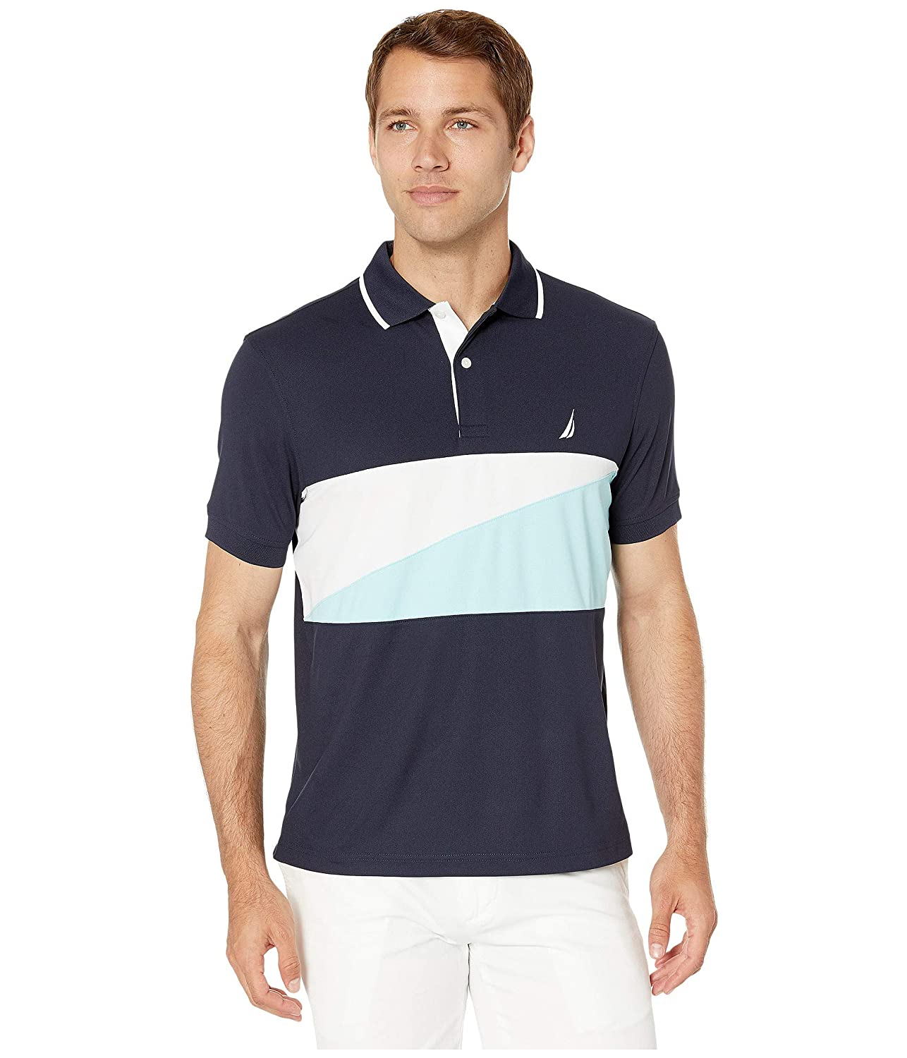 Nautica Mens Chest Block Polo Navy Medium: Amazon.es: Ropa y ...