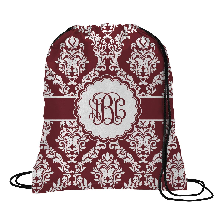 Amazon.com   Maroon & White Drawstring Backpack