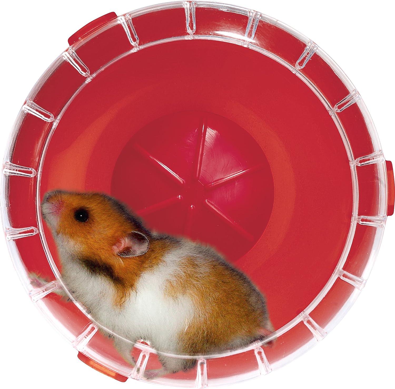 ruota silenziosa per gabbia RodyLounge colore rosso scuro Verificare che sia la dimensione adatta al tuo animale. diametro 14/cm circa criceti e gerbilli Silent Wheel