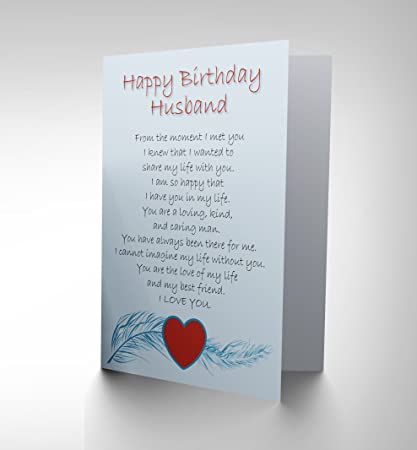 BIRTHDAY HUSBAND LOVE POEM NEW ART GREETINGS GIFT CARD CP1907