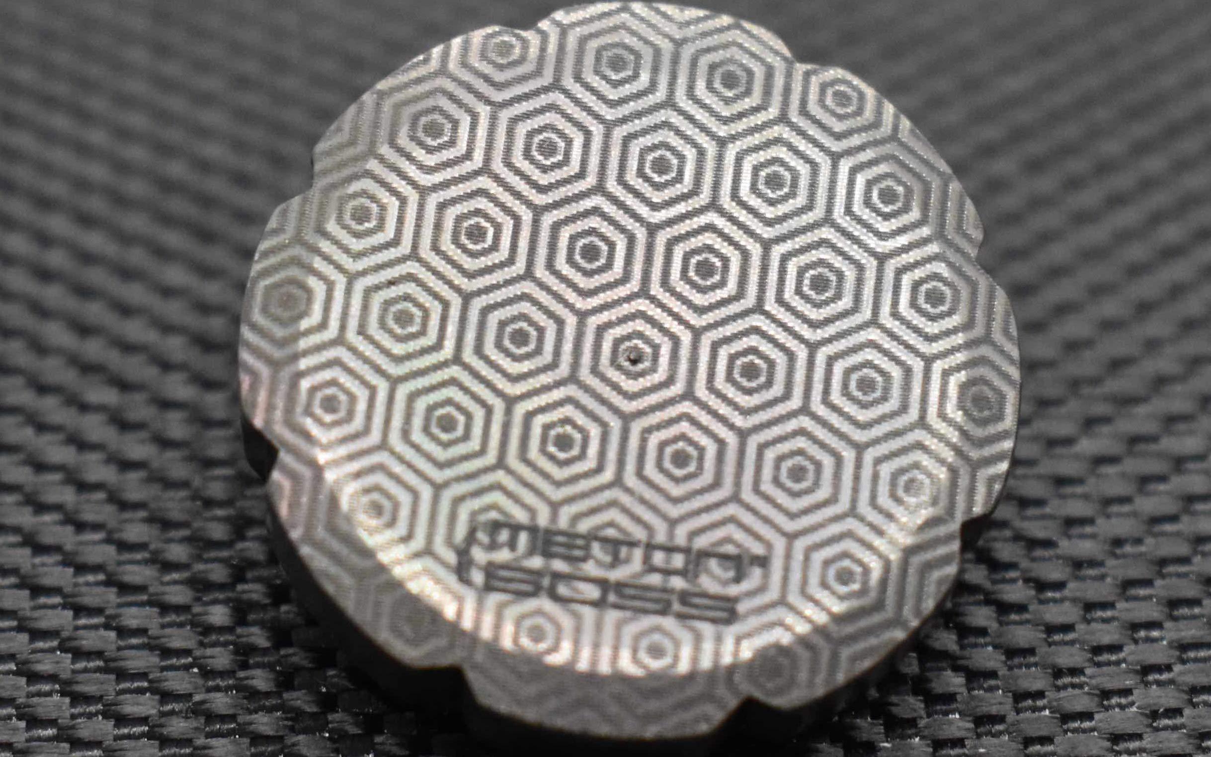 MetonBoss Worry Coin Black Zirconium & Ruby Bearing   Everyday Carry Gear   Precision-Made and Desktop Display by MetonBoss (Image #3)
