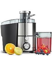VonShef 400W Juicer Machine - Whole Fruit and Vegetable Stainless Steel Centrifugal Juice Extractor - Extra Large Feeding Chute, 500ml Jug