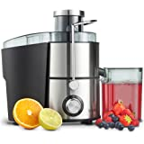 VonShef Juicer Machine, Fruit Juice Maker, Whole Fruit Juice Extractor, Centrifugal Juicer, Fruit and Vegetable, Orange Juicer, Stainless Steel, 400 Watt