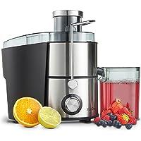 VonShef Juicer Machine, Fruit Juice Maker, Whole Fruit Juice Extractor, Centrifugal Juicer, Fruit and Vegetable, Orange Juicer, Stainless Steel, 400 Watt