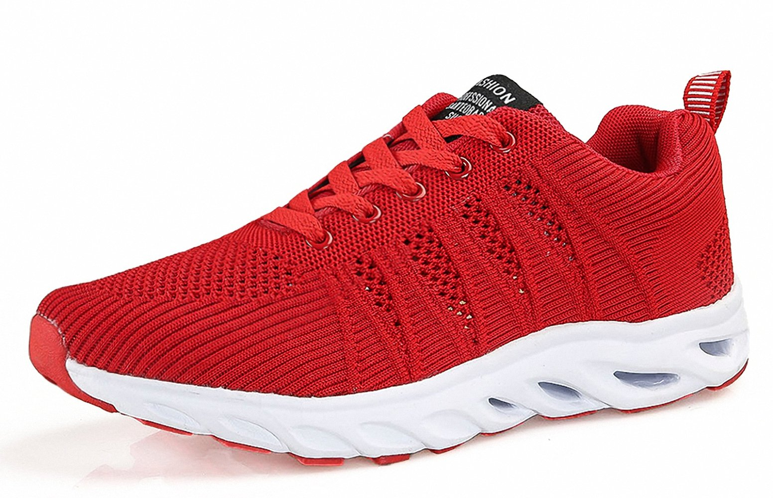 ZHENZHONG Womens's Comfortable Fashion Running Sneaker Shoes Red for Walking Jogging