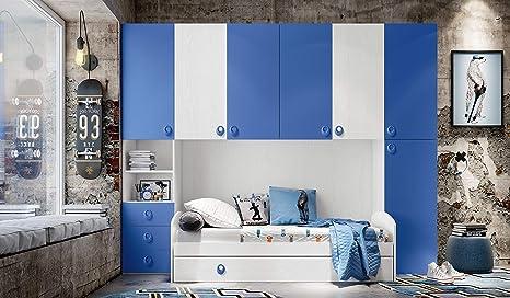 InHouse srls Chambre à Pont Blanc frêne et Bleu Hauteur 236 ...