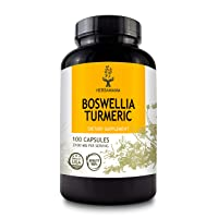 Turmeric Curcumin with Black Pepper and Boswellia 100 Capsules 2100 mg | Supports Muscle and Joint Health | Strengthens The Immune System | Pain Relief | Anti-Inflammatory | Antioxidant