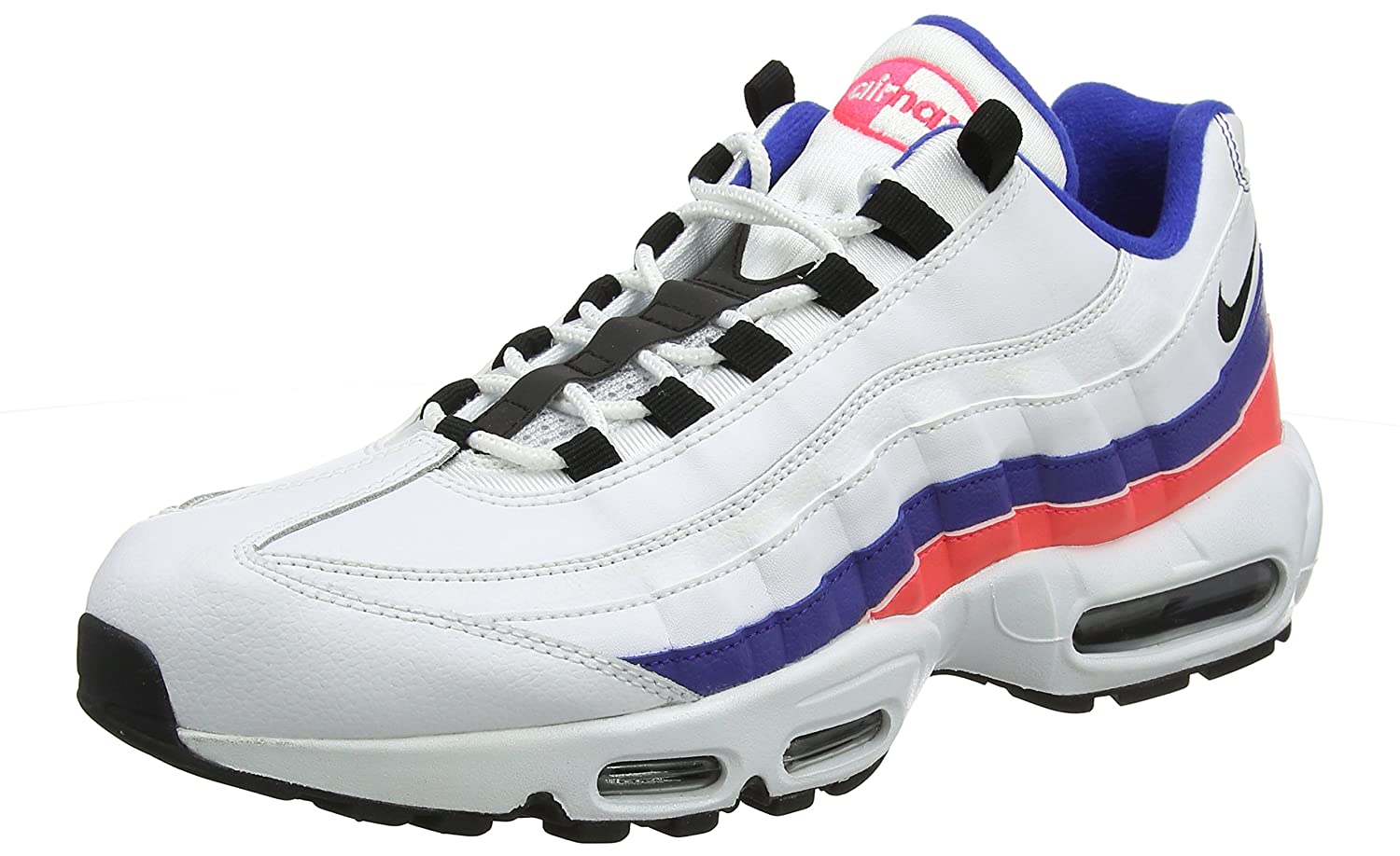 on sale 35794 1a29f Amazon.com | NIKE Men's Air Max 95 White/Black/Solar Red ...