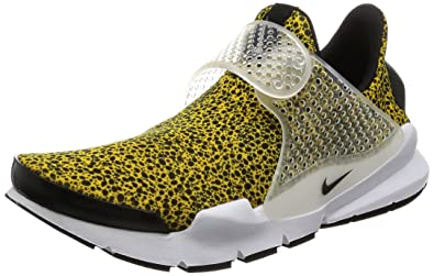 b9f9042349b0 NIKE Men Sock Dart Qs Safari Pack Yellow University Gold Black-White Size  9. 0 US  Buy Online at Low Prices in India - Amazon.in