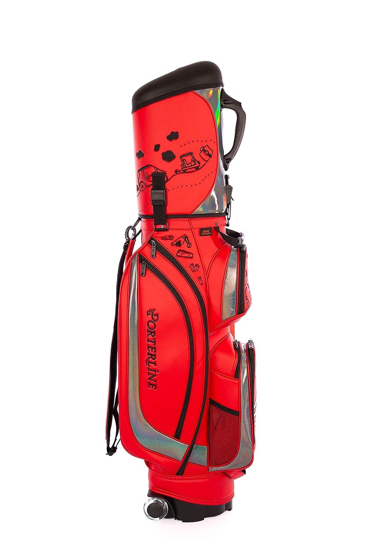 porterlineトラベルカバーゴルフバッグ909sシリーズ B07J24RLNT レッド