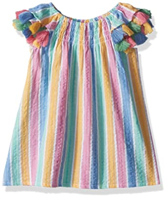 d5dba1ef4 Amazon.com: Masala Baby Girls Baby Sundancer Dress Rainbow Stripe Multi:  Clothing