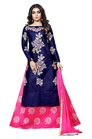 082ee5011a8 MULTIRETAIL Women s Cotton Embroidery Glaze Unstitched Salwar Suit with  Dupatta (C453DLSF842SN