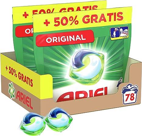 Ariel Pods Allin1 Detergente Lavadora Cápsulas, 78 Lavados (2 x 26+13), Original