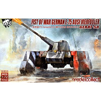 Modelcollect MOC72115 1:72 Fist of War German E-75 Ausf.Vierfubler Gerat 58 [MODEL BUILDING KIT]: Toys & Games