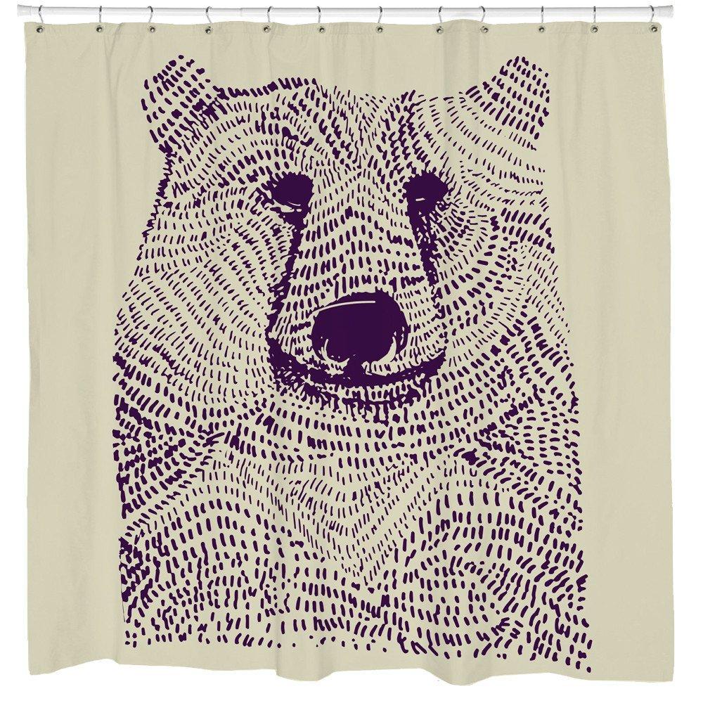 Amazon Kids Bathroom Shower Curtain Cute Bear Illustation Urban Outfitters Be Wild Home Kitchen
