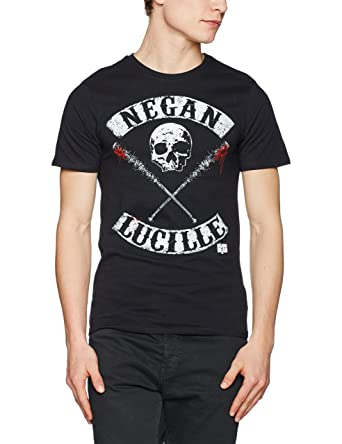 a2cdf8e0f The Walking Dead Negan Lucille T-Shirt Black: Amazon.co.uk: Clothing