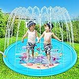 Acetek 噴水マット 子供プール プレイマット 噴水おもちゃ PVC おもちゃ プール子供用 キッズ 水遊び 親子遊び 芝生遊び 庭 家族用 シャワーおもちゃ プールマット 夏の日 アウトドア 噴水池