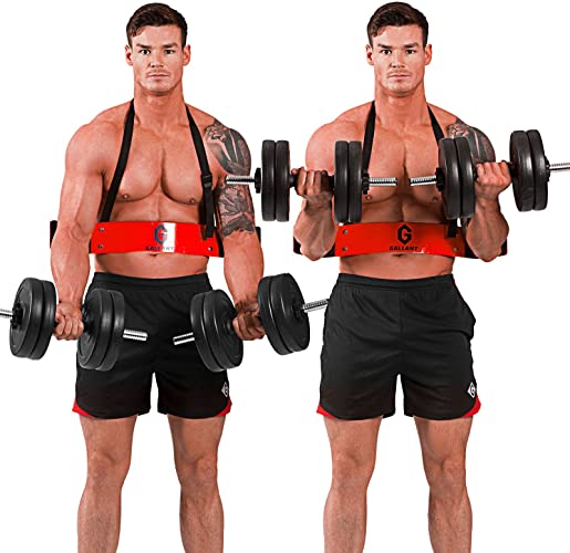 Arm Blaster BICEPS Isolateur Bomber barre curl soutien Heavy Duty Gym Lifting Straps