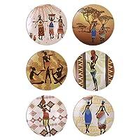 Keramika 21 Cm Delta Pasta Ethnic Womans Takuu, 6 Adet
