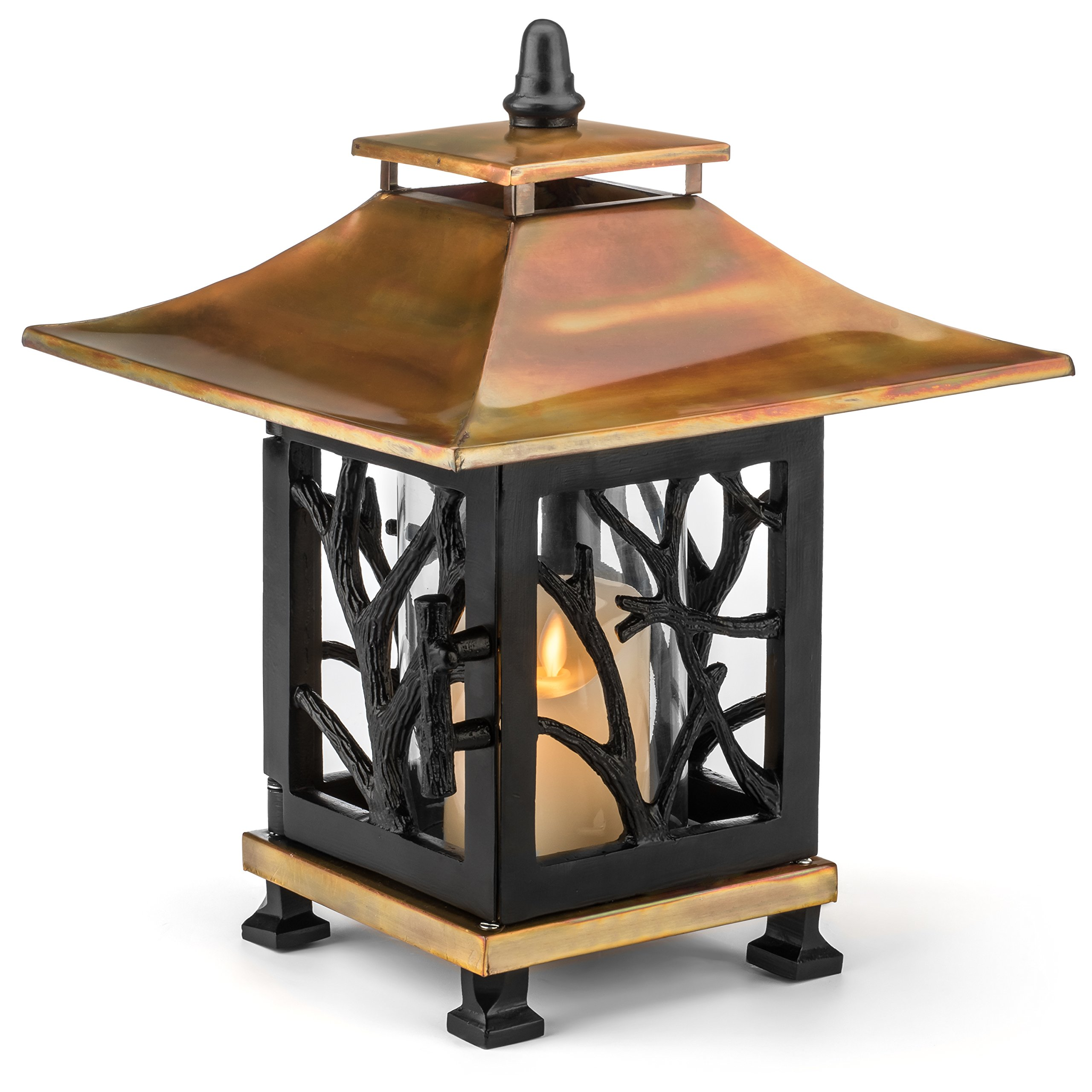 H Potter Decorative Candle Lantern Outdoor Indoor for Patio Deck Balcony Terrace Tabletop by H Potter (Image #1)