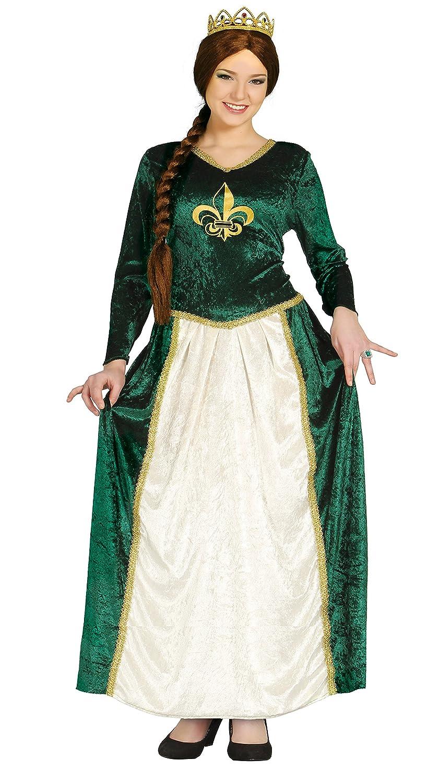 Guirca Disfraz adulta reina medieval Talla 38-4 80802.0: Amazon.es: Juguetes y juegos