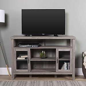 "WE Furniture TV Stand, 52"", Grey Wash"