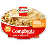 HORMEL COMPLEATS Mirowave Meals - Shelf Stable - Turkey and Dressing - 10 Ounce (Pack of 6)