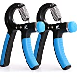 Fitness Adjustable Hand Grip Strengthener - Pack of 2 - Stainless Steel Tension Springs - Non Slip Handles - by Utopia Fitness