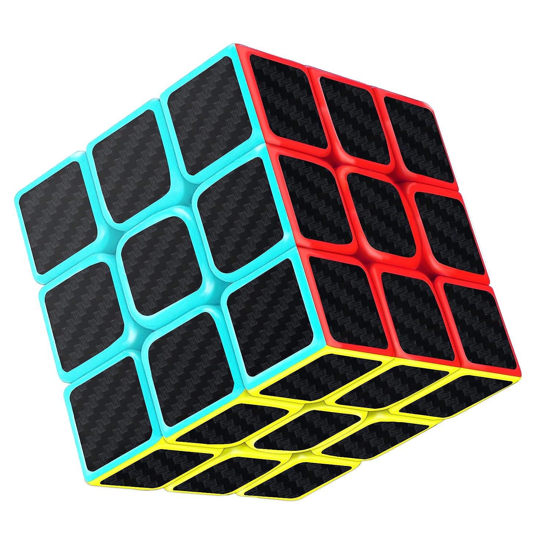 Cube Magique, Gritin 3x3x3 Speed cube de Vitesse Magique Lisse Facile à Tourner pour Jeu d'entraînement Cérébral ou Cadeau de Vacances .