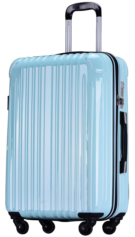 ラッキーパンダ スーツケース TY001 ハード 超軽量 TSAロック ファスナータイプ 機内持込 B07DPLTK83 Mサイズ(4~6日の旅行向け)|ウォーターグリーン ウォーターグリーン Mサイズ(4~6日の旅行向け)