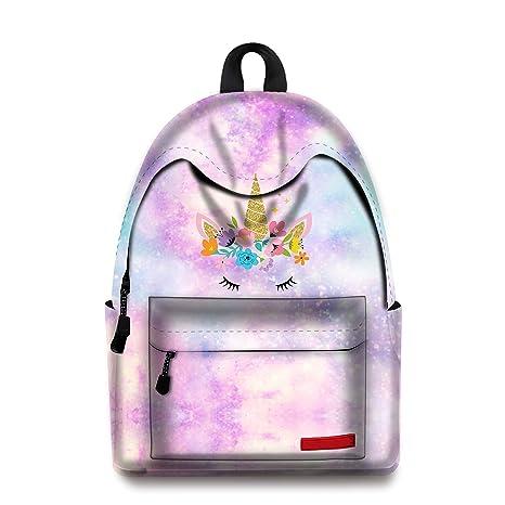 Amazon.com: Mochila escolar de unicornio para libros, bolsas ...