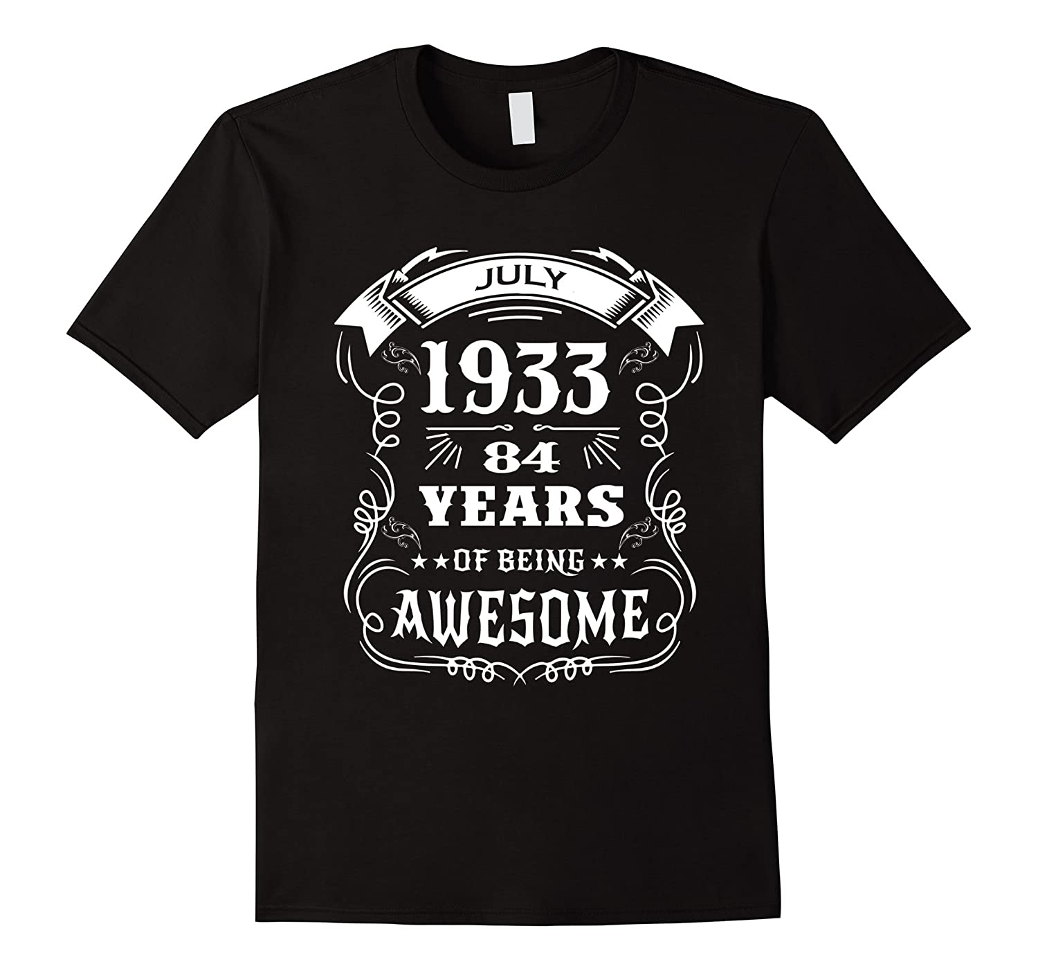 6accf4b5 84th Birthday Gift – 84 years of being awesome T-Shirt-PL – Polozatee