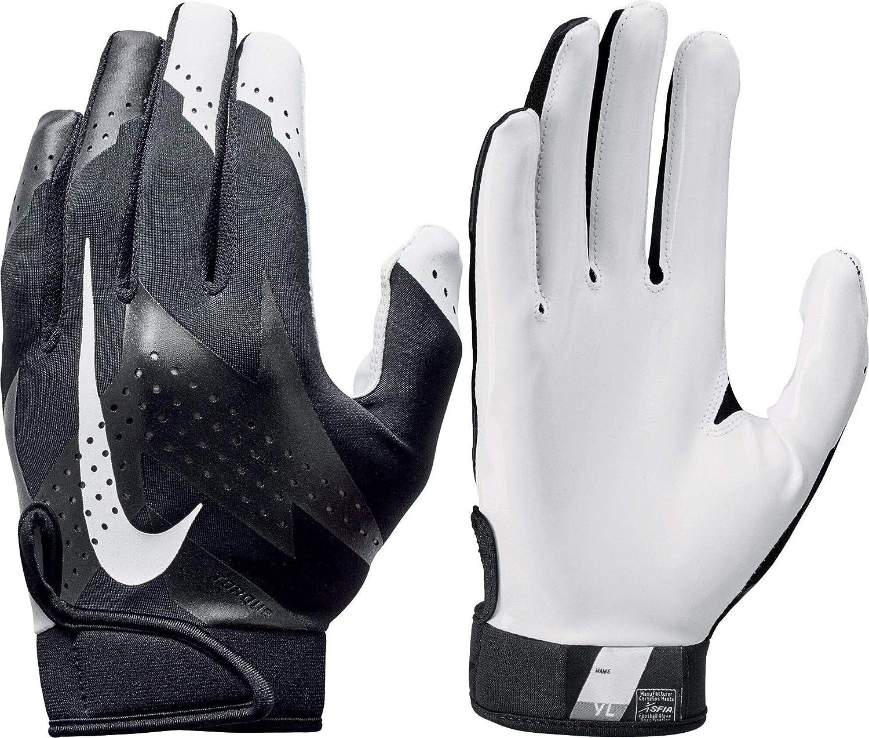 Paquete o empaquetar Botánica Pase para saber  Amazon.com : Nike Youth Torque 2.0 Receiver Gloves 2018 (Black/White,  Small) : Clothing