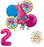 NEW TROLLS POPPY 2nd Birthday Party Supplies And Balloon Bouquet Decorations